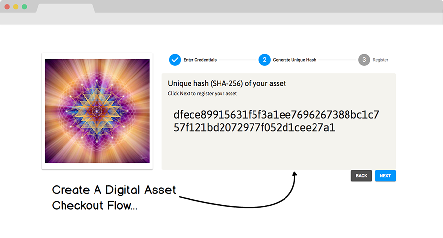 Digital Asset Checkout Flow