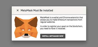 MetaMask detection modal
